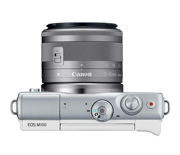 Canon EOS M100 EF-M 15-45mm IS STM biały + Irista 50GB - 440426 - zdjęcie 4