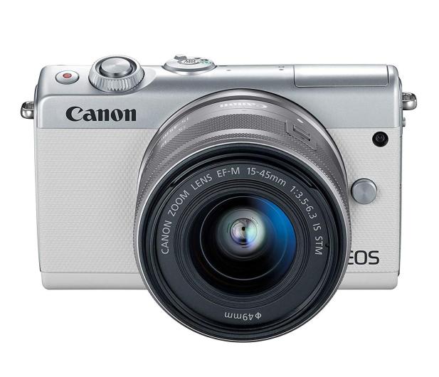Canon EOS M100 EF-M 15-45mm IS STM biały + Irista 50GB - 440426 - zdjęcie