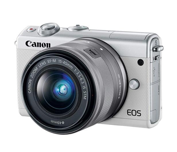 Canon EOS M100 EF-M 15-45mm IS STM biały + Irista 50GB - 440426 - zdjęcie 2