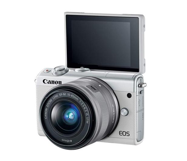 Canon EOS M100 EF-M 15-45mm IS STM biały + Irista 50GB - 440426 - zdjęcie 5