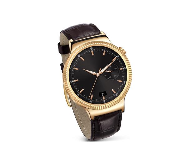Huawei Watch Golden + Brown Leather - 285625 - zdjęcie
