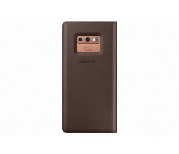 Samsung Leather View Cover do Note 9 brązowe  - 441254 - zdjęcie 3