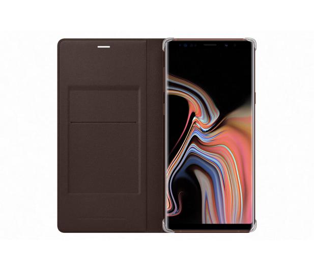 Samsung Leather View Cover do Note 9 brązowe  - 441254 - zdjęcie 4