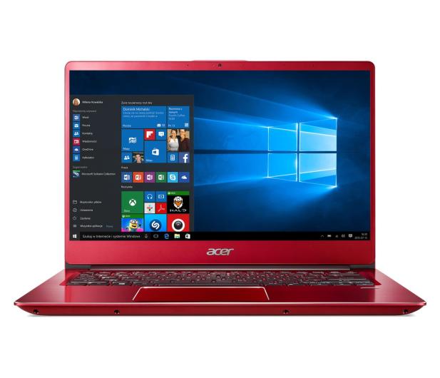 Acer Swift 3 i3-8130U/8GB/256/Win10 IPS FHD Czerwony - 441918 - zdjęcie 3