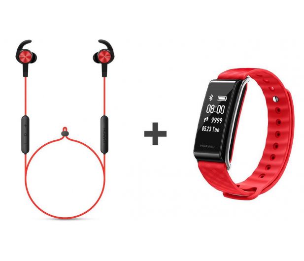 Huawei AM61 Sport Bluetooth Czerwone + Band A2 czerwony - 443804 - zdjęcie