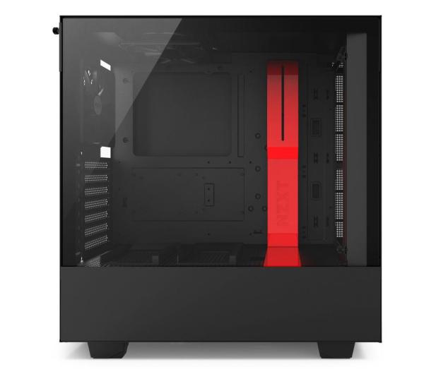 NZXT H500 matowa czarna/czerwona - 442362 - zdjęcie 5