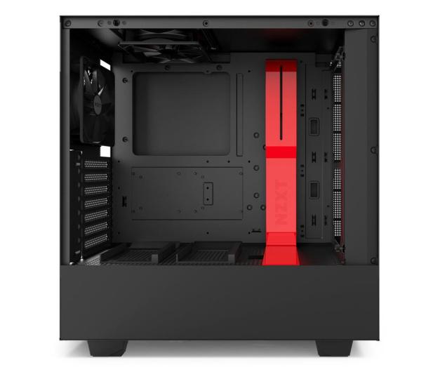 NZXT H500 matowa czarna/czerwona - 442362 - zdjęcie 7