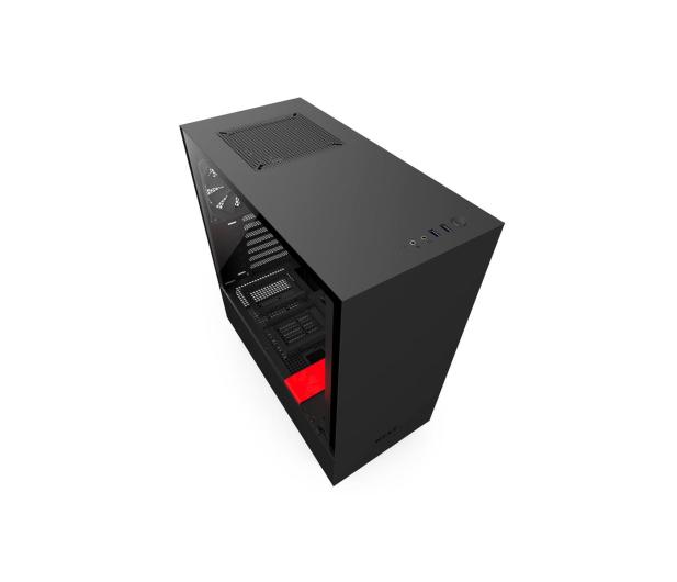 NZXT H500 matowa czarna/czerwona - 442362 - zdjęcie