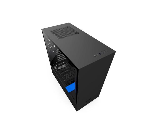 NZXT H500 matowa czarna/niebieska - 442360 - zdjęcie