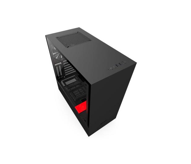 NZXT H500i matowa czarna/czerwona - 442355 - zdjęcie