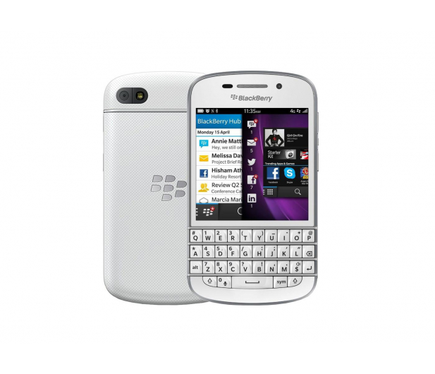 BlackBerry Q10 16GB LTE biały - 443310 - zdjęcie