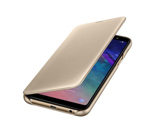 Samsung Wallet Cover do Samsung Galaxy A6+ złoty - 444720 - zdjęcie