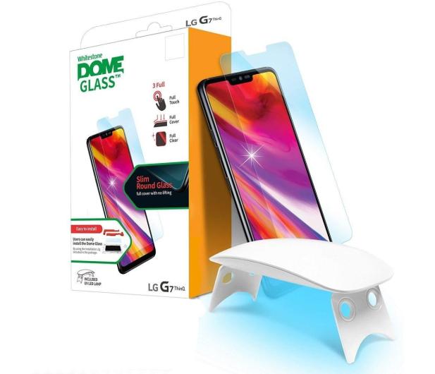 Whitestone Szkło Hartowane Dome Glass + lampa UV do LG G7 - 445770 - zdjęcie