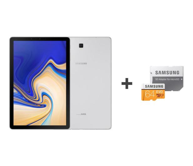 Samsung Galaxy Tab S4 10.5 T835 4/64GB LTE Silver + 64GB - 446883 - zdjęcie