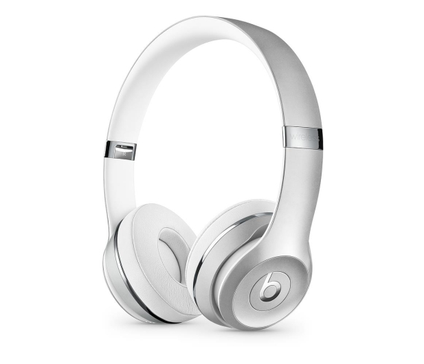 Apple Beats Solo3 Wireless On-Ear srebrne - 446941 - zdjęcie
