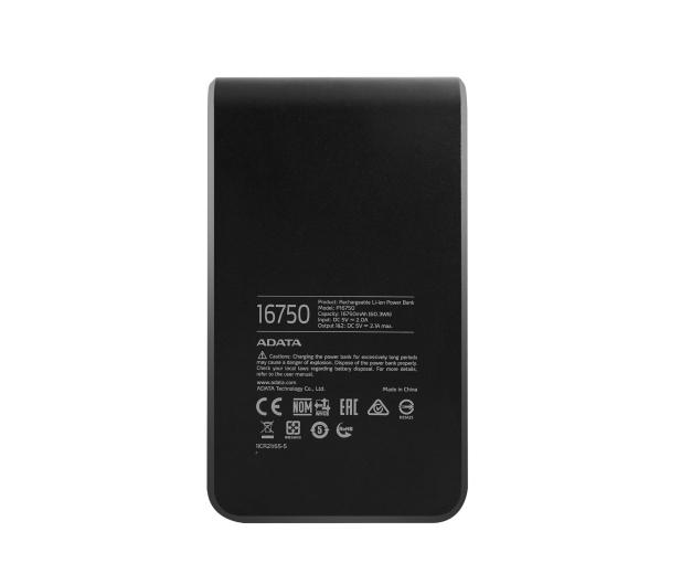ADATA Power Bank P16750 16750 mAh 2.1A(czarno-niebieski) - 447425 - zdjęcie 3