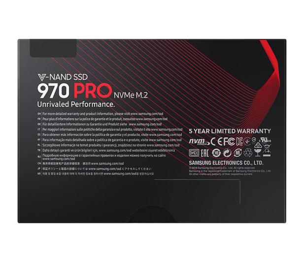 Samsung 1TB M.2 PCIe NVMe  970 PRO - 442513 - zdjęcie 6