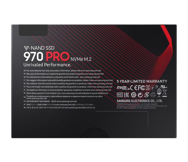 Samsung 512GB 970 PRO  PCIe x4 NVMe  - 442512 - zdjęcie 6
