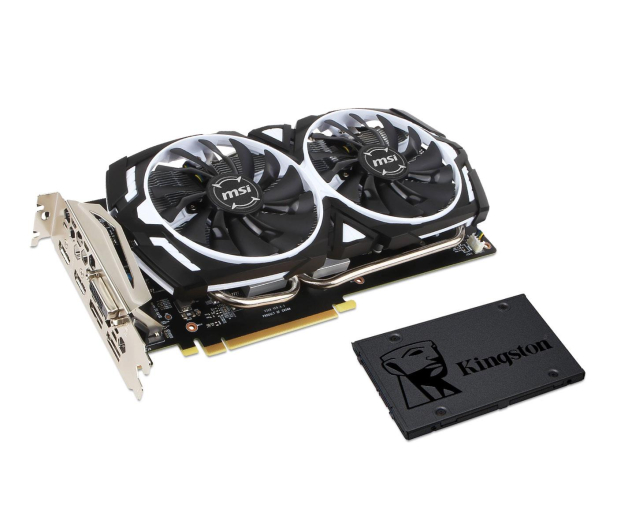 MSI GeForce GTX 1060 ARMOR 6GB + Kingston 240GB A400  - 443191 - zdjęcie