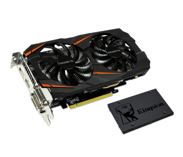Gigabyte GeForce GTX 1060 WF2 OC 6GB + Kingston 240GB A400 - 443199 - zdjęcie