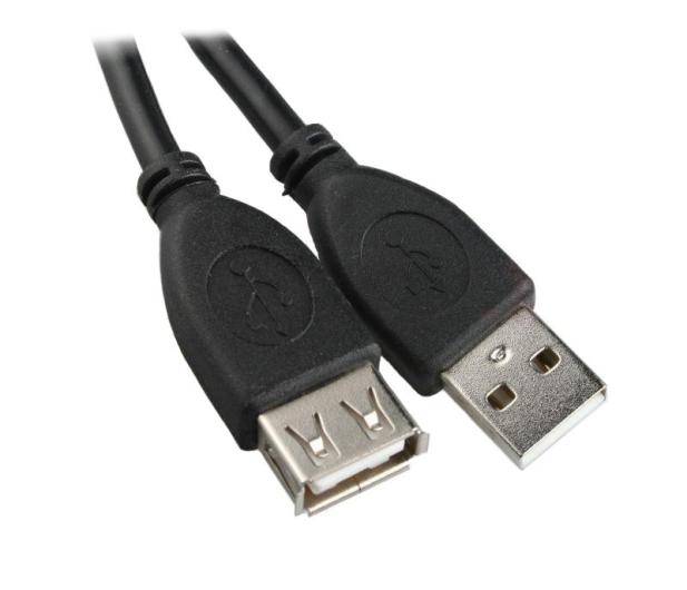 Gembird przedłużacz USB A-A M/F 1,8m czarny - 64397 - zdjęcie