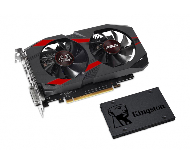 ASUS GeForce GTX 1050 TI OC 4GB + Kingston 120GB A400 - 443220 - zdjęcie