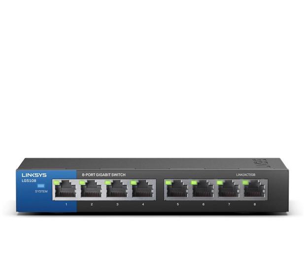 Linksys 8p LGS108-EU (8x10/100/1000Mbit) - 296327 - zdjęcie