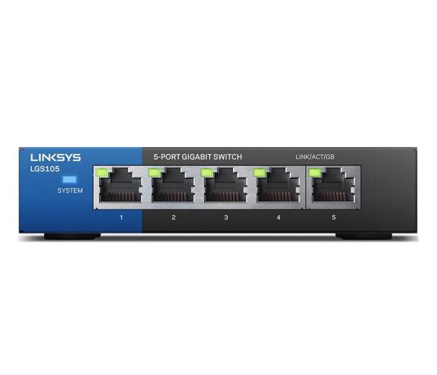 Linksys 5p LGS105-EU (5x10/100/1000Mbit) - 296323 - zdjęcie 2