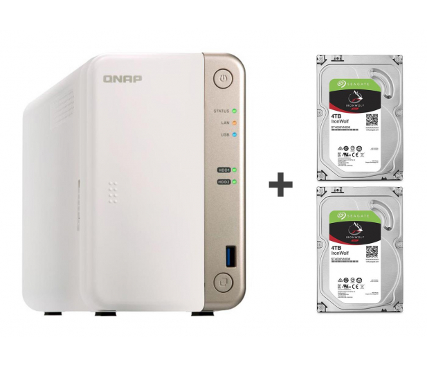 QNAP TS-251B-2G 8TB (2xHDD, 2x2-2.5GHz, 2GB, 5xUSB) - 449159 - zdjęcie