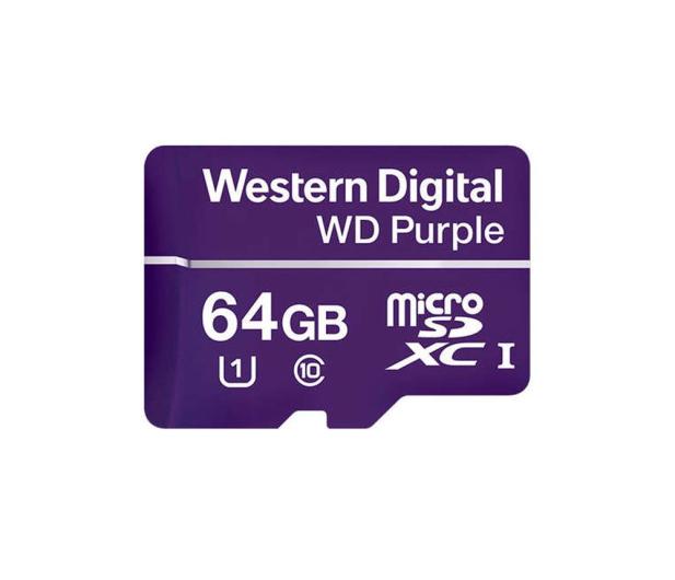 WD 64GB Purple microSD XC Class 10 UHS 1 - 448749 - zdjęcie