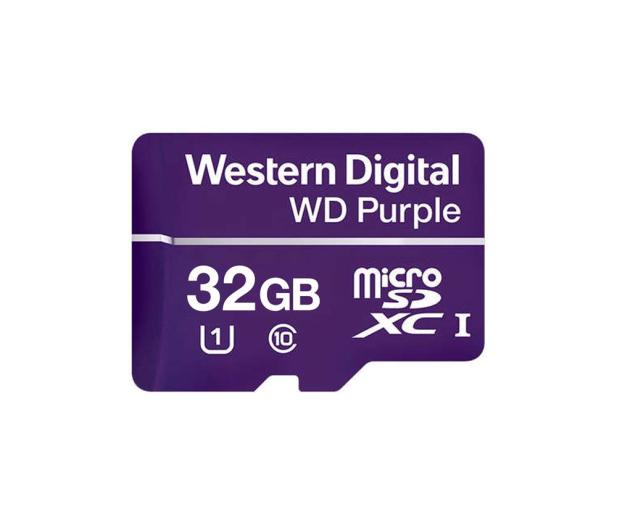 WD 32GB Purple microSD XC Class 10 UHS 1 - 448745 - zdjęcie