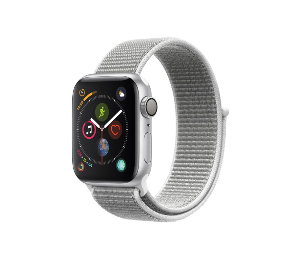 Apple Watch 4 40/Silver Aluminium/Seashell GPS  - 448661 - zdjęcie
