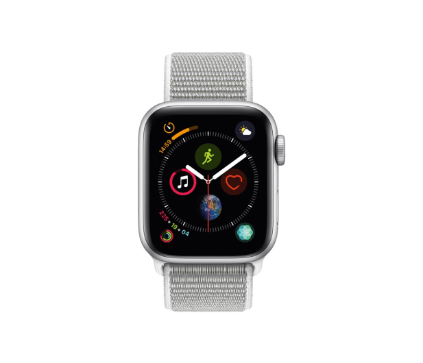 Apple Watch 4 40/Silver Aluminium/Seashell GPS  - 448661 - zdjęcie 2