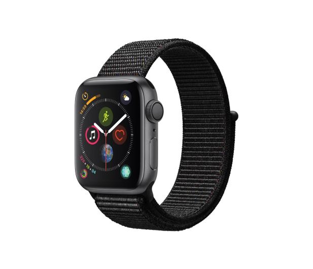 Apple Watch 4 40/Space Gray/Black Sport Lo GPS  - 449525 - zdjęcie