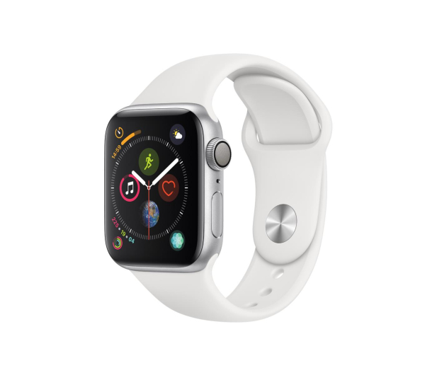 Apple Watch 4 40/Silver Aluminium/White Sport GPS  - 448662 - zdjęcie
