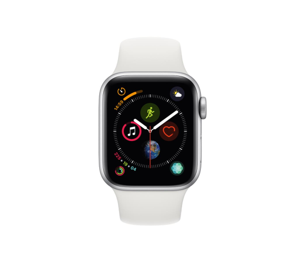 Apple Watch 4 40/Silver Aluminium/White Sport GPS  - 448662 - zdjęcie 2