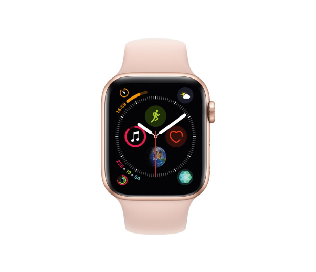 Apple Watch 4 44/Gold Aluminium/Pink Sport GPS  - 448664 - zdjęcie 2