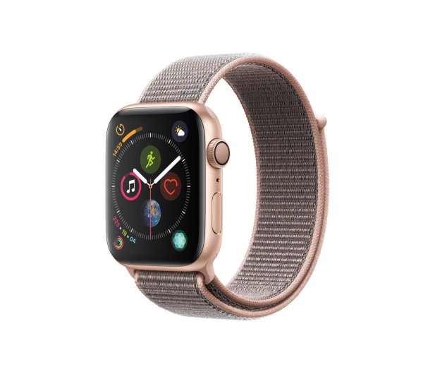 Apple Watch 4 44/Gold Aluminium/Pink Sport Lo GPS  - 449522 - zdjęcie