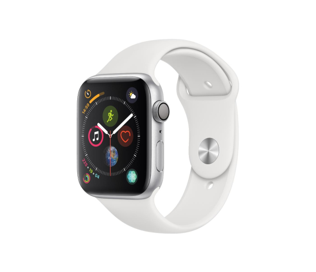 Apple Watch 4 44/Silver Aluminium/White Sport GPS  - 448665 - zdjęcie