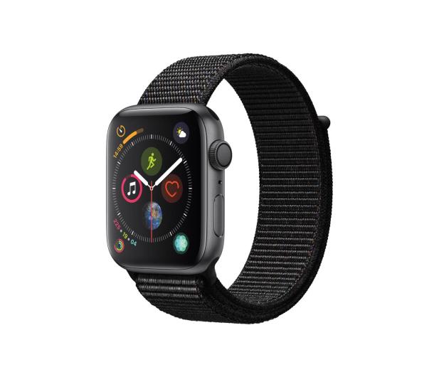 Apple Watch 4 44/SpaceGray Aluminium/Black Sport Lo GPS - 448666 - zdjęcie