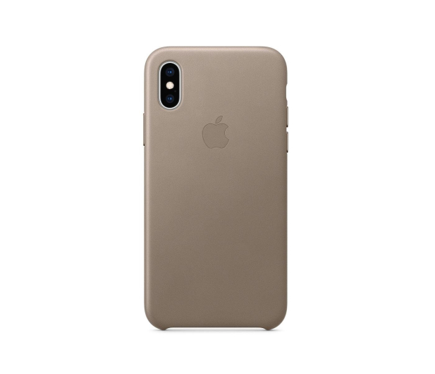 Apple iPhone XS Leather Case Taupe - 449549 - zdjęcie 3