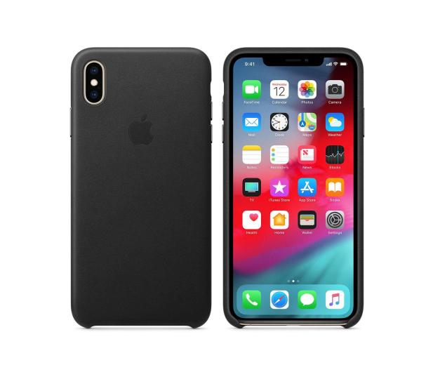 Apple iPhone XS Max Leather Case Black - 449557 - zdjęcie