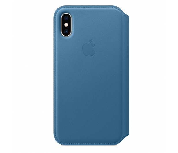 Apple iPhone XS Leather Folio Cape Cod Blue - 449569 - zdjęcie 3