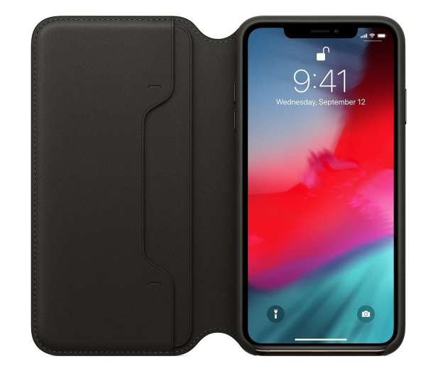 Apple iPhone XS Max Leather Folio Black - 449572 - zdjęcie 2