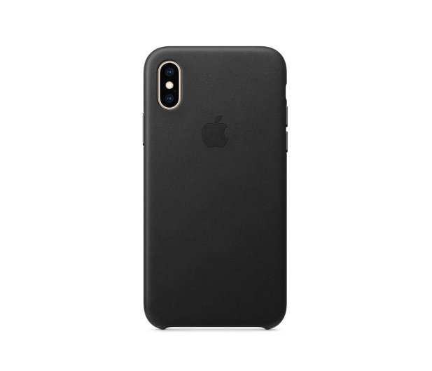 Apple iPhone XS Leather Case Black - 449551 - zdjęcie 3