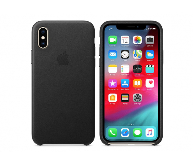 Apple iPhone XS Leather Case Black - 449551 - zdjęcie 1