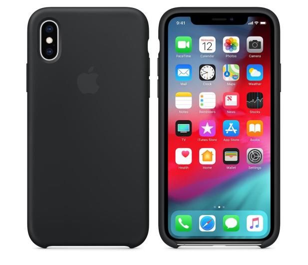 Apple iPhone XS Silicone Case Black - 449537 - zdjęcie