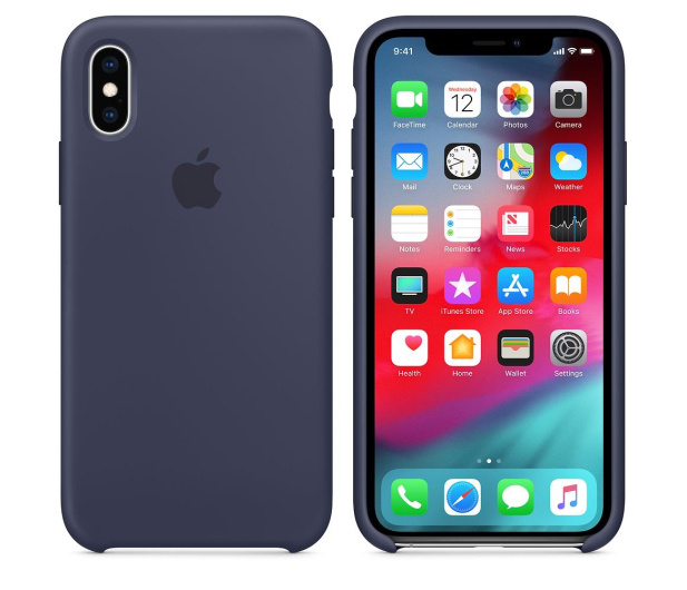 Apple iPhone XS Silicone Case Midnight Blue - 449539 - zdjęcie