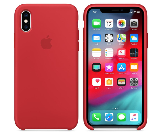 Apple iPhone XS Silicone Case Product Red - 449540 - zdjęcie