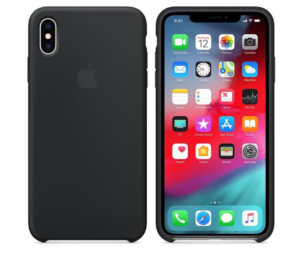 Apple iPhone XS Max Silicone Case Black - 449542 - zdjęcie